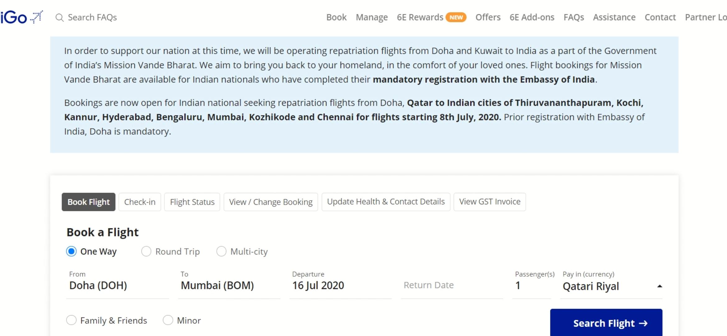 International Flight - Indigo International Flight Booking